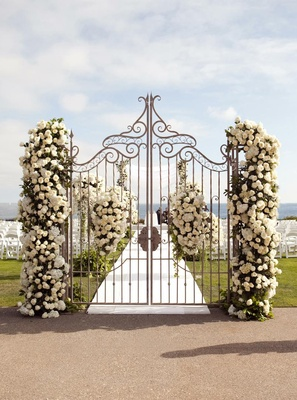 Heavenly ceremony entrance wrought-iron doors