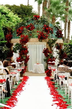 Outdoor wedding at Ritz-Carlton Marina del Rey