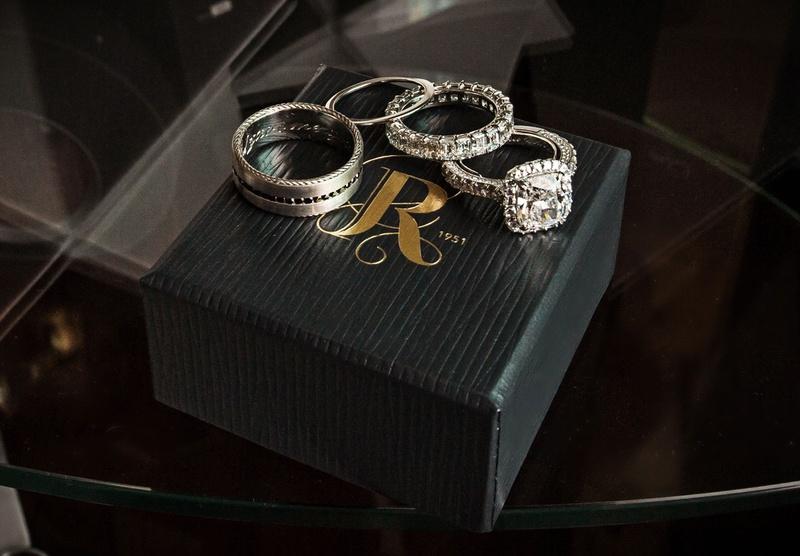 wedding jewelry razny jewelers chicago cushion cut diamond engagement ring wedding bands