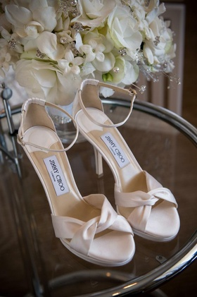 Jimmy Choo bridal sandals with ankle strap