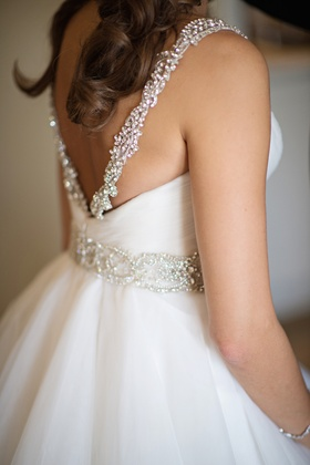 Kenneth Pool wedding dress with beaded details
