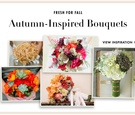Fall flower bouquets for autumn wedding brides