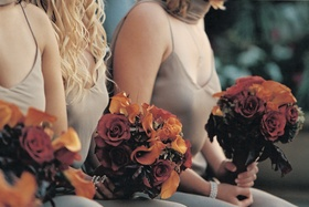 Rose and calla lily bouquet for bridesmaids