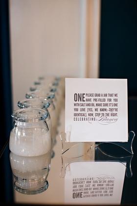 Pre-filled perfume salt and oil jars