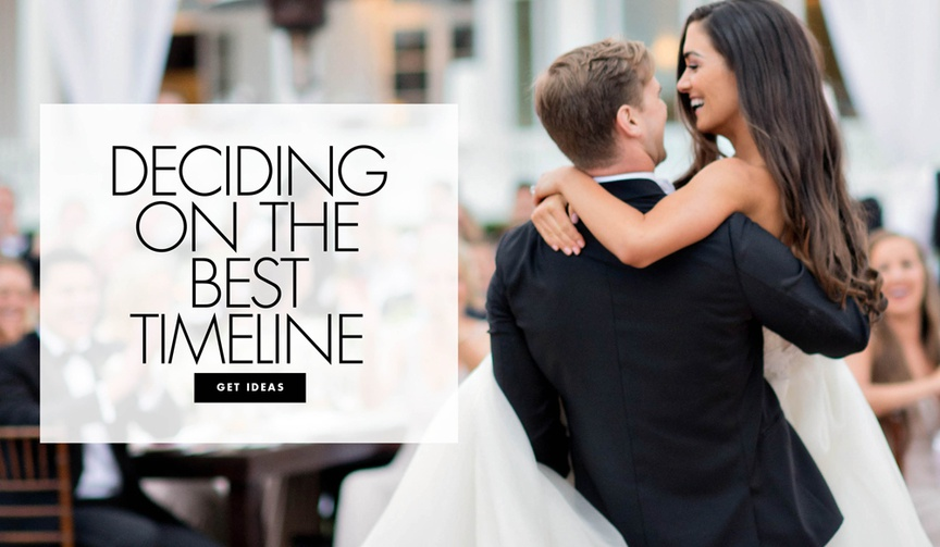 How to decide on the best timeline for your wedding reception