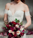 fall wedding bouquet, marsala and burgundy wedding bouquet