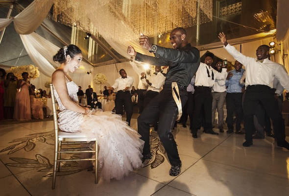 Jason McCourty, Tennessee Titan, dances for his bride Melissa Ortiz at their wedding reception