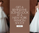 Get a behind the scenes BTS look at a new york fashion shoot for isabelle armstrong