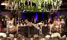 wedding reception decor gold coast events the gold coast all stars greenery blue delphinium greenery