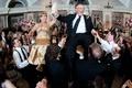 Parents of the bride groom in Jewish Hora dance