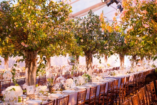 Central park inspired indoor garden wedding ideas