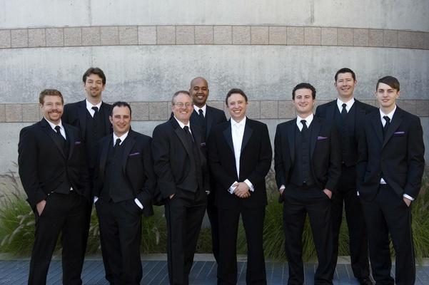 Skirball Cultural Center groomsmen at wedding