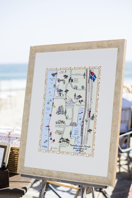 Laura Hooper Calligraphy personalized map in frame