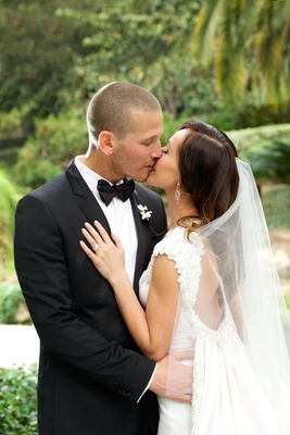 Randi Rham beaded wedding dress and veil