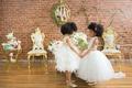pantora mini flower girl dresses, black child models with natural hair in flower girl dresses