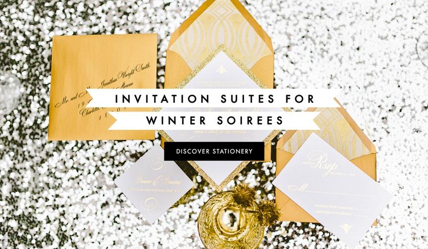 Winter wedding invitation ideas from real weddings