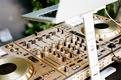 wedding reception outdoor dj entertainment dj controller music spinner