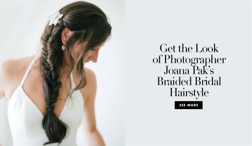 steven yeun the walking dead glenn rhee joana pak photographer wedding hairstyle braided bride inspo
