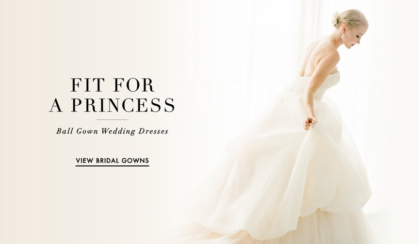 Wedding dress ball gown silhouette worn by real brides