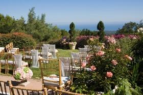 Outdoor wedding at home of actor Jeff Bridges