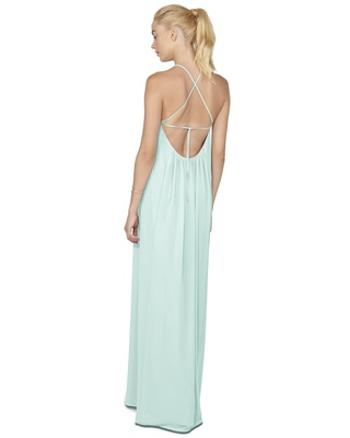 Fetauring a down to there back with tie straps that can be criss crossed or worn straight, the Heidi
