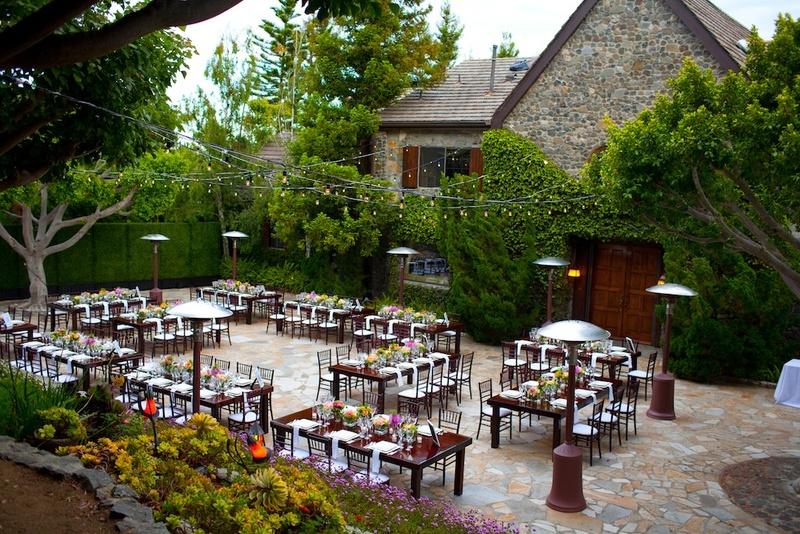 Malibu Stone Manor outdoor wedding reception