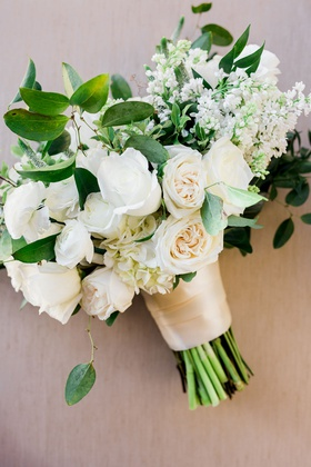 Charlise Castro and Houston Astros mlb player George Springer III wedding bouquet rose tulip peony