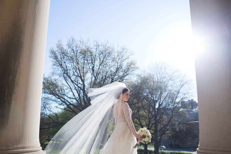 bride blusher veil floating wind roman catholic church wedding liancarlo dress religious ceremony