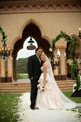 NFL Player Nicholas Barnett with bride at The Grand Del Mar