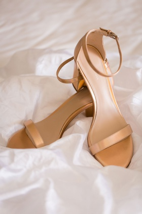 wedding shoes bridal heels sandals ankle strap nude wedding shoes