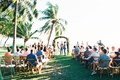 olowalu plantation house wedding, hawaii maui wedding ceremony with palm trees overlooking the ocean