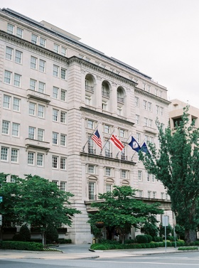 The Hay-Adams Hotel in Washington, DC flags wedding venue in nation's capital