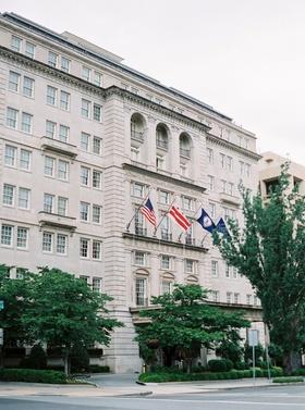 The Hay-Adams Hotel in Washington, DC flags wedding venue in nation's capital