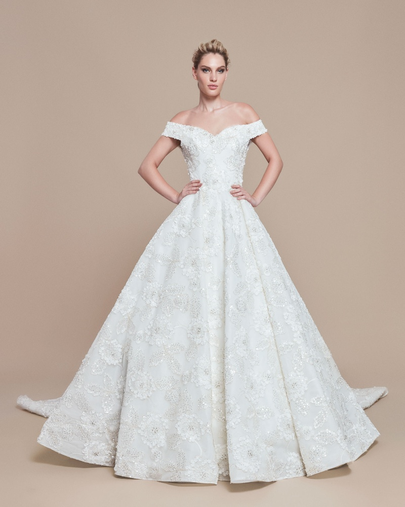 Wedding Dresses Photos - Off-Shoulder Ball Gown by Ebru Sanci ...