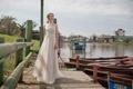 Limor Rosen 2017 Ginger wedding dress beaded crop top with full blush tulle skirt