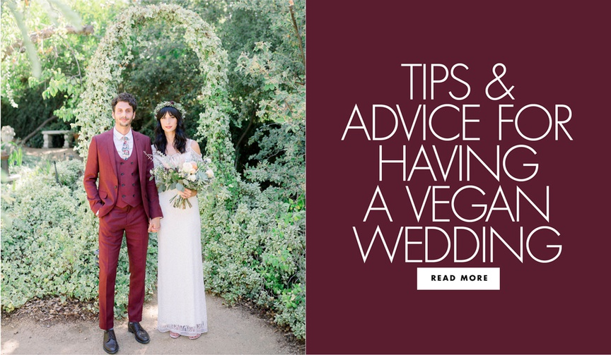 tips and advice for having a vegan wedding reception
