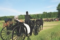 Carriage driver wearing top hat to ceremony