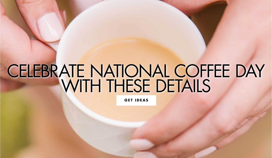 celebrate national coffee day with these wedding details