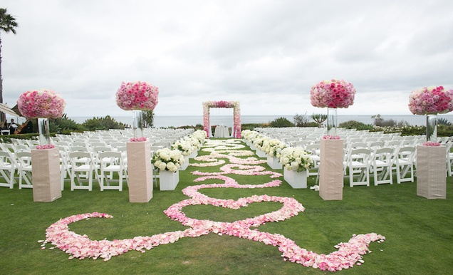 Pink & White Wedding with Ombré Details at Montage Laguna Beach