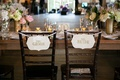 simple bride groom chair signage rustic wedding sweetheart table head table