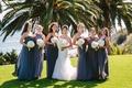 mismatched bridesmaids dresses, bride and bridesmaids