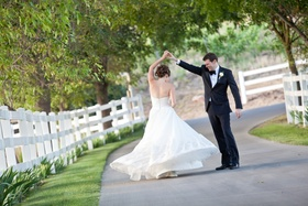 Garden wedding at Saddlrock Ranch Malibu CA