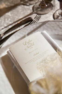 classic champagne hued reception menu calligraphy washington dc white color scheme