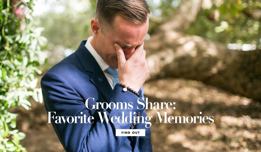 Grooms Share: Favorite Wedding Memories