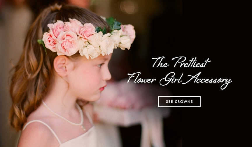 Flower crown ideas for flower girl accessories