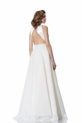 Open back two-piece Renee dress by Olia Zavozina Spring 2016