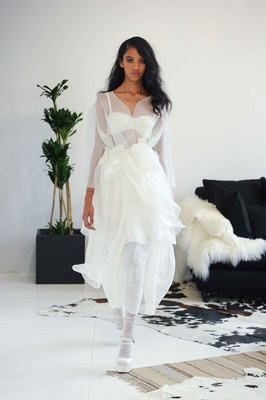 Lace overcoat for wedding dress