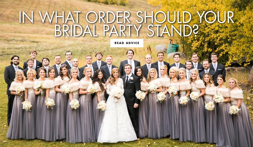 in what order should your bridal party stand wedding party processional tips order