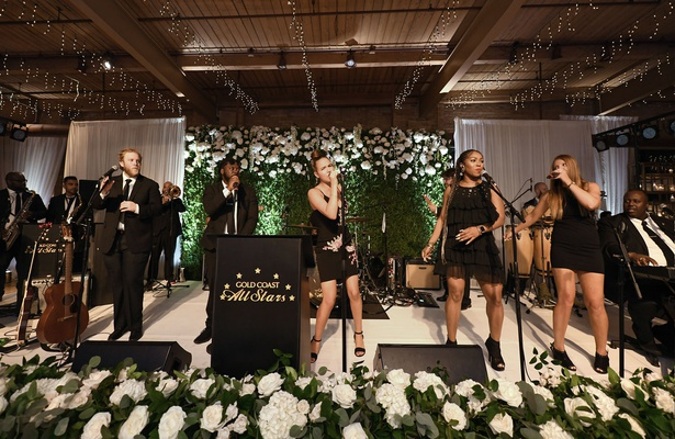 rustic chic wedding reception the gold coast all stars of gold coast events white flowers greenery