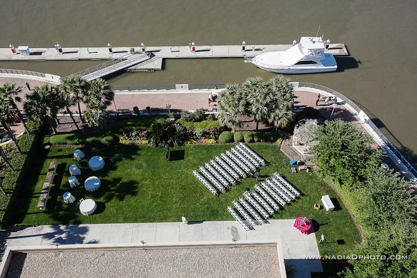 Aerial View of the Harbor Lawn